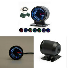 """2"""" 52mm Auto Car Air to Fuel Ratio Meter Gauge Turbo 7 Colors LED Universal"""