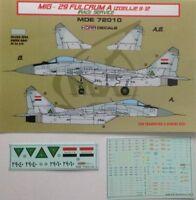 MDE72010 MiG-29 Fulcrum A Iraq 1/72 LF Models