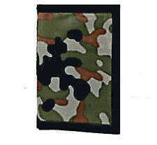 Camouflage Army Party Camo Canvas Wallet Party Favour x 1 Free Postage