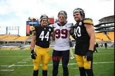 WATT BROTHERS T.J..DEREK..JJ 9/27/20 STEELERS VS TEXANS HEINZ FLD COLOR 8X10