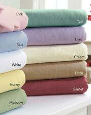 Plain Dyed Flannelette Bed Flat Sheet Lilac Double