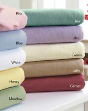 Plain Dyed Flannelette Bed Flat Sheet Blue King