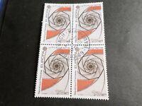FRANCE BLOC timbres 2270 EUROPA CEPT, oblitéré 1983 cachet rond, QUARTINA