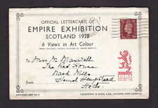 GB Great Britain 1938 Empire Exhibition Official Letter Card 6 Views