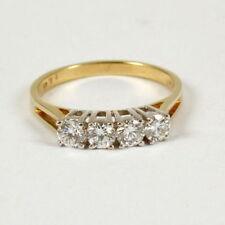 Unbehandelter Echtschmuck aus mehrfarbigem Gold Ringe mit IF Reinheit