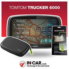 NEW TomTom Trucker 6000 LIVE Truck GPS Sat Nav HGV Traffic Lifetime Map Updates
