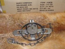 1 New Duke # 1 1/2 Coil Spring Traps  Raccoon Fox Mink Nutria Trapping NEW SALE
