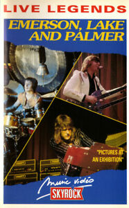 EMERSON LAKE & PALMER - K7 Vidéo RARE Vhs Secam - Pictures at an Exibition