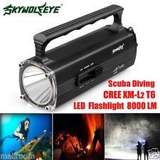 8000 LM CREE xm-l2 DEL t6 Scuba Diving Underwater Lampes de Poche Torch étanche