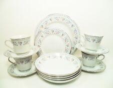 MTK TOHKI China MHJ3 Japan 20 Pc Set Serves 4 Plates Cups Bowls 5 Pc Settings