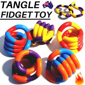 TANGLE FIDGET TOY Twisty Fun Kids String STRESS Sensory Aid Relax Anxiety Relief