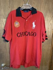 Polo Ralph Lauren Rugby Shirt Chicago #3 Custom Fit Red Embroidered Big Pony Lt