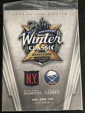 2018 NHL Winter Classic Program - New York Rangers vs Buffalo Sabres