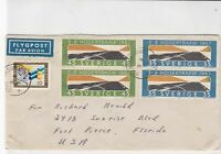 sweden 1967 stamps cover ref 19560