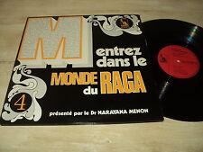 COMPIL DOUBLE 33 TOURS LP FRANCE RAGA PAR LE DR NARAYANA MENON