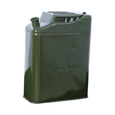 Army 20l 5 Gallon Gas Fuel Can Fuel Gasoline Steel Tank Container Thickened