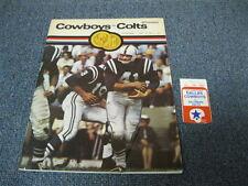 Sept 14, 1969 Baltimore Colts vs Dallas Cowboys Program and Ticket Stub