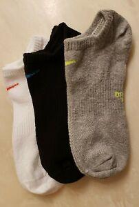 3 Women's Nike No Show Socks Dri-Fit (White, Black, Grey)`