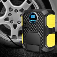 Digital Tyre Inflator Portable Air Compressor Car Bike Tire Pump w/ LED AU 10A.