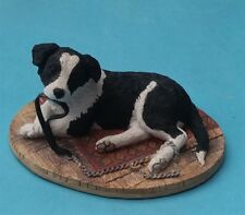 BOXED WELL DETAILED BORDER FINE ARTS WALKIES (BORDER COLLIE) FIGURINE