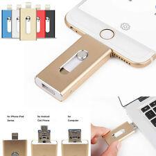 128GB 64GB New OTG Dual USB Memory i Flash Drive U Disk For IOS iPhone iPad/PC