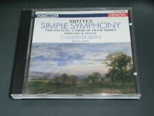 Britten Simple Symphony/Variations Theme of Frank Bridge/Prelude Fugue Denon CD