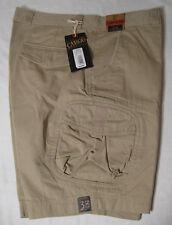 CARGO Mens Washed Utility Cargo Shorts NWT 38 Khaki 100% Cotton