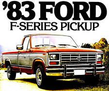 1983 FORD F-SERIES PICKUP TRUCK BROCHURE -F100-F150-F250-F350-XL-XLS-XLT