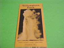 VINTAGE 1951 TOURIST BROCHURE FOLDER YELLOWSTONE PARK EXCELLANT SENIC VIEWS
