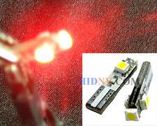 T5 (T4) 3-SMD LED Wedge Bulbs 37 73 75 79 Gauge Cluster Dashboard Lights Red