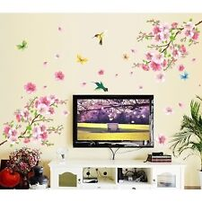 Beautiful Flower Birds plum blossom PVC Art Wall Stickers Removable Home Decor