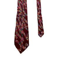 Missoni Cravatte Patterned Tie | Vintage 90s Luxury High End Designer Red VTG