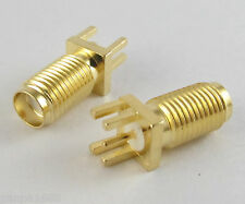 10x SMA Female One-Sided RF Board Mount Coaxial Connector Un-S length 17mm (US)