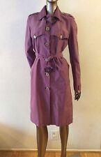 EUC BURBERRY London authentic purple rain trench coat US size 6