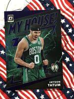 JAYSON TATUM - (PURPLE PRIZM) 2019-20 DONRUSS OPTIC MY HOUSE BOSTON CELTICS