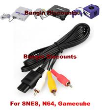 N64 6FT RCA AV TV Audio Video Stereo Cable Cord For Nintendo 64 Gamecube SNES