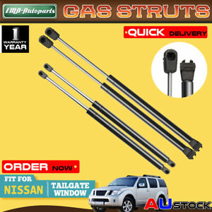 4x For Nissan Pathfinder R51 Series 2005-2013 Tailgate & Rear Window Gas Struts
