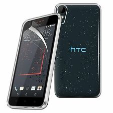 For HTC Desire 825 - Tough Thin Clear TPU Gel Case Cover & Screen Guard