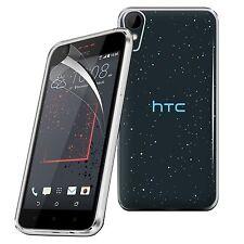 Pour HTC Desire 825-tough mince clair tpu gel case cover & screen guard