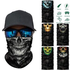3D Seamless Balaclava Neck Face Mask Camouflage Motorcycle Ghost Skull Bandana