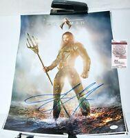 Jason Momoa Signed Justice League Aquaman 16x20 Photo Poster PSA JSA WITNESS COA