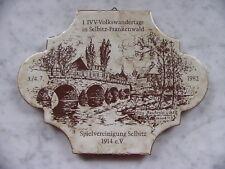 Kachel IVV Volkswandertag Selbitz Frankenwald 1982 Spielvereinigung Reußenbrück