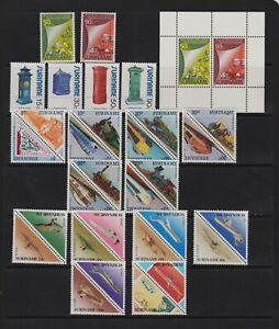 Surinam - 4 mint sets, cat. $ 31.60