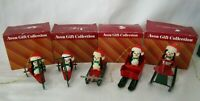 Avon Jolly Penguin Flocked and Metal Vintage Christmas Ornaments 6 Total GUC IOB