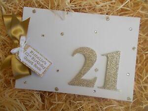 Glitter Personalised 21st Birthday Guest Book Scrapbook Memory Photo Album Gift
