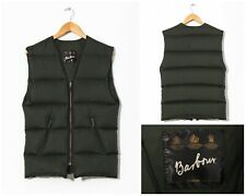 Mens BARBOUR Down Filled Liner Waistcoat Vest Gilet Green Size S C36