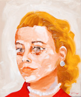 Grace Kelly Original Oil Painting on Canvas Modern French Art Neal Turner NR