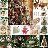 2019 DIY Wood Christmas Ornaments Xmas Festival Party Xmas Tree Hanging Decor
