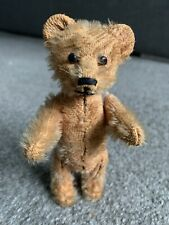 "Rare Antique Miniature 5"" Orange Mohair Schuco Hidden Perfume Bear Nr"