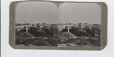 WWI Stereoview (Realistic) - Tank disabled in our break-through at Moervres